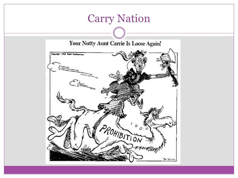 Carry Nation Cartoon Questions Who is the woman in the cartoon.
