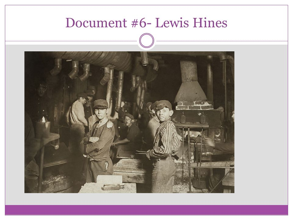 Document #6- Lewis Hines