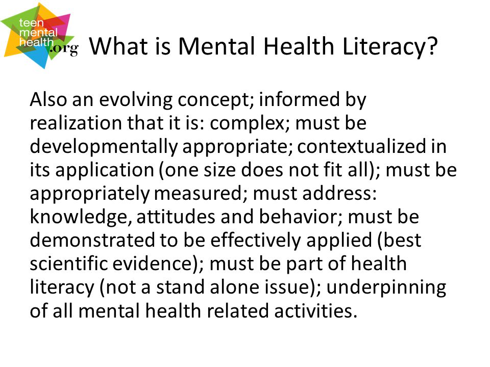 What is Mental Health Literacy.