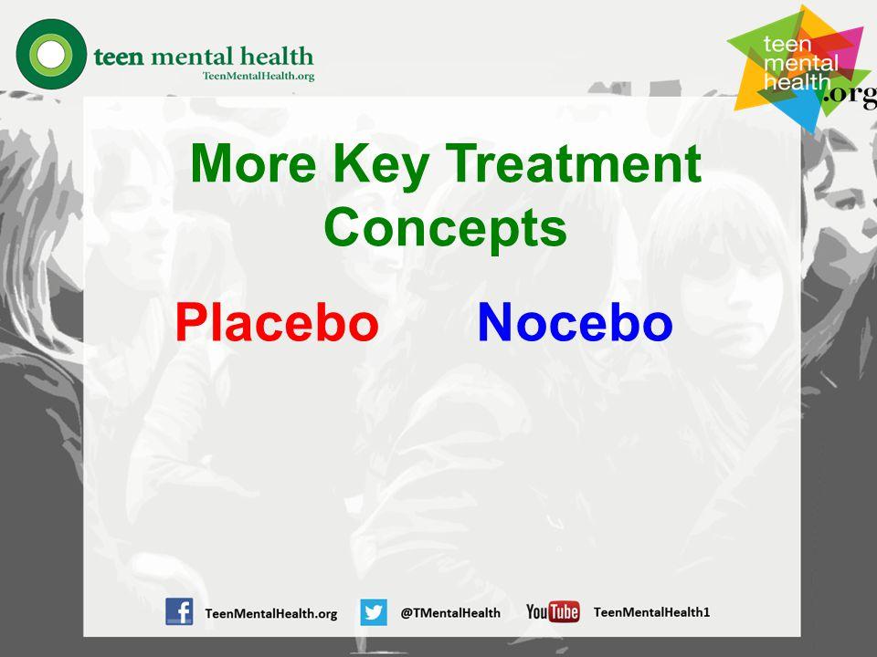 More Key Treatment Concepts PlaceboNocebo