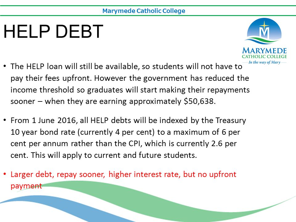 Marymede Catholic College EXTENDING THE DEMAND DRIVEN SYSTEM The demand driven system has been extended to provide Commonwealth Supported Places (ie government funding) for any undergraduate qualification offered by a university – including diplomas and associate degrees.