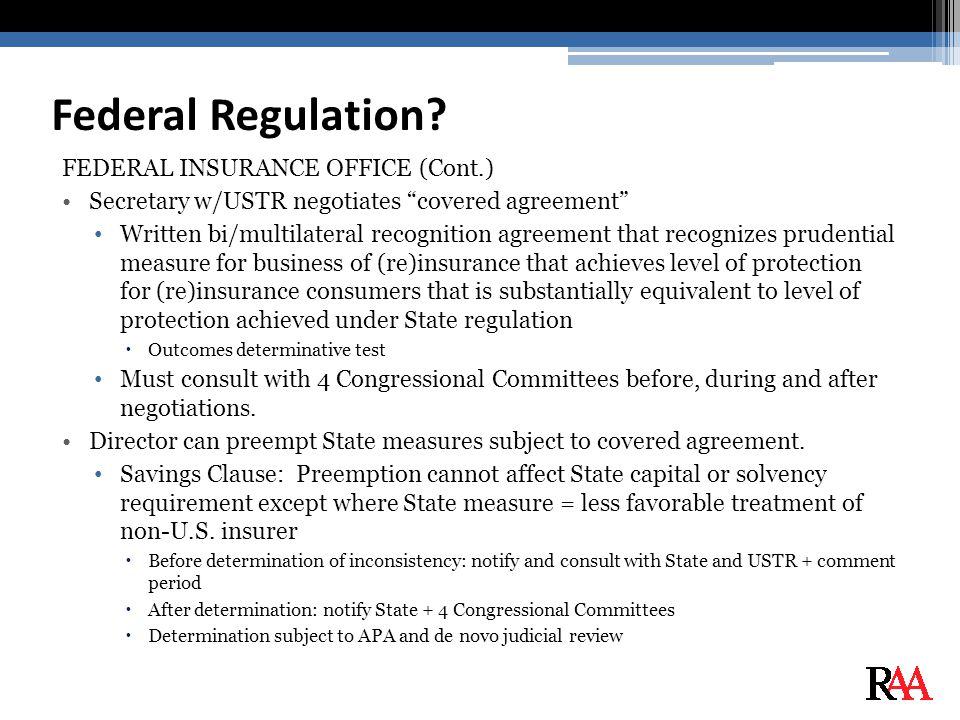 Federal Regulation.
