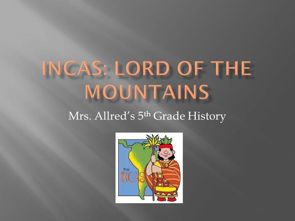Mrs. Allred's 5 th Grade History