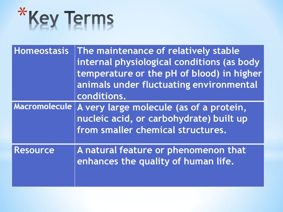 HomeostasisThe maintenance of relatively stable internal physiological conditions (as body temperature or the pH of blood) in higher animals under fluctuating environmental conditions.