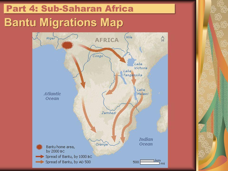 Bantu Migrations Map Part 4: Sub-Saharan Africa
