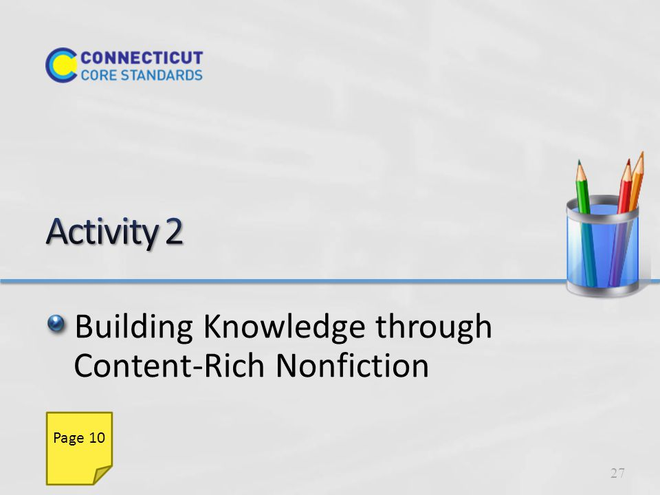 Building Knowledge through Content-Rich Nonfiction 27 Page 10