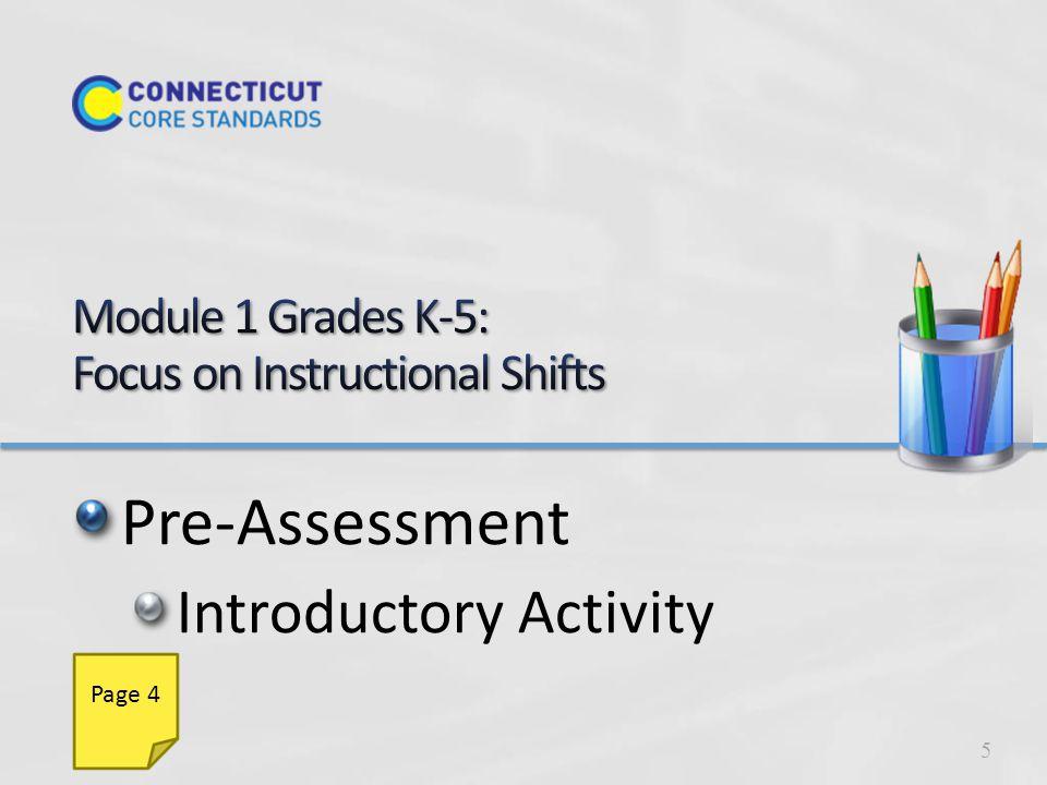 Common Core ELA & Literacy Vertical Progressions Instructional ShiftsClassroom PracticeRigor 6