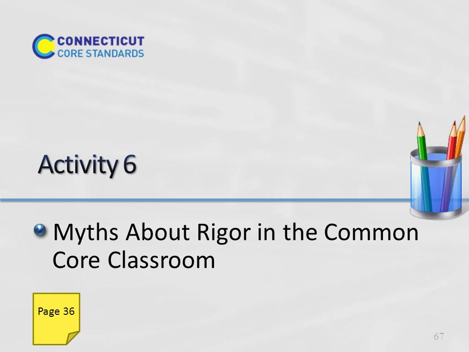 Myths About Rigor in the Common Core Classroom 67 Page 36