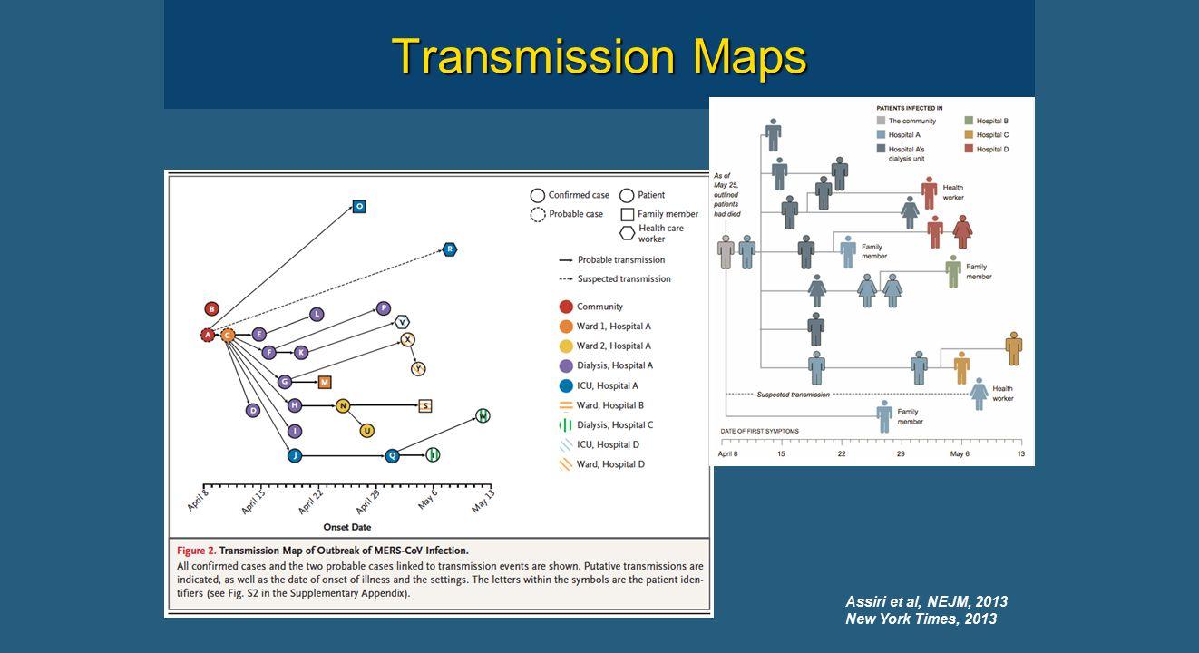 Transmission Maps Assiri et al, NEJM, 2013 New York Times, 2013