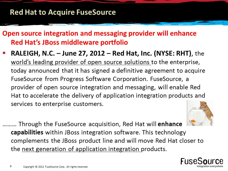 Copyright © 2012 FuseSource Corp.. All rights reserved. 10 The Integration Revealed