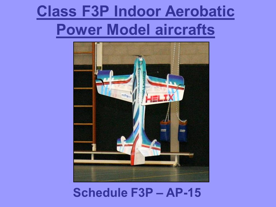 Class F3P Indoor Aerobatic Power Model aircrafts Schedule F3P – AP-15