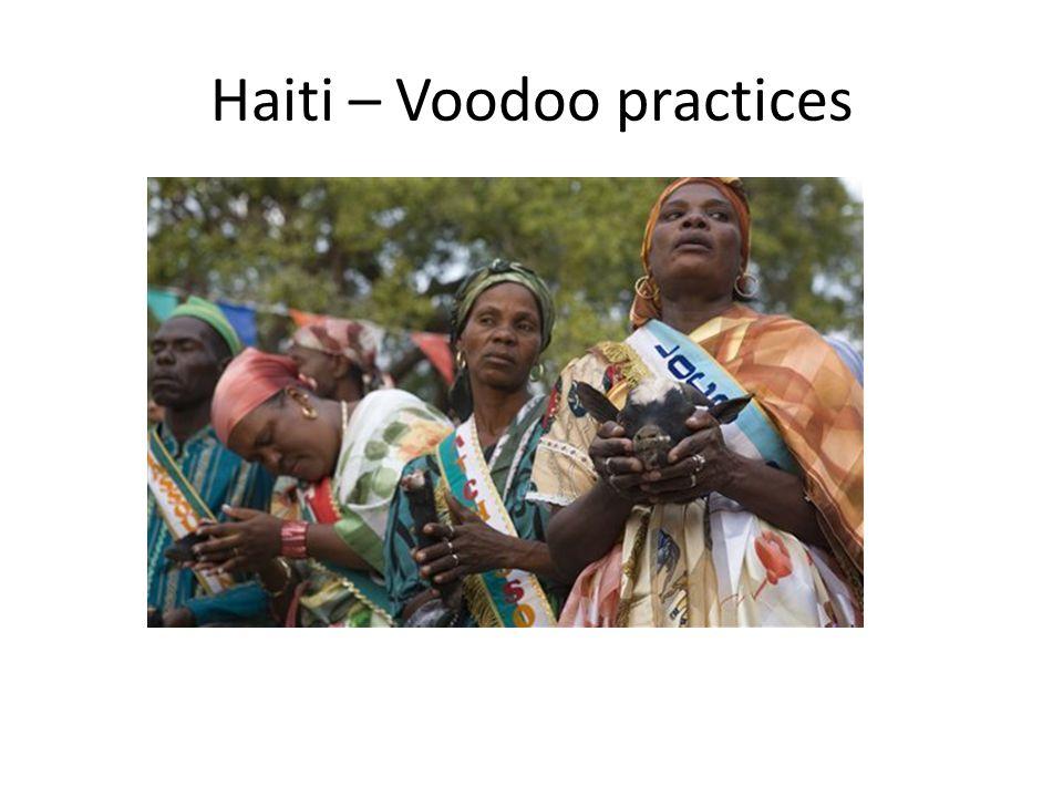 Haiti – Voodoo practices