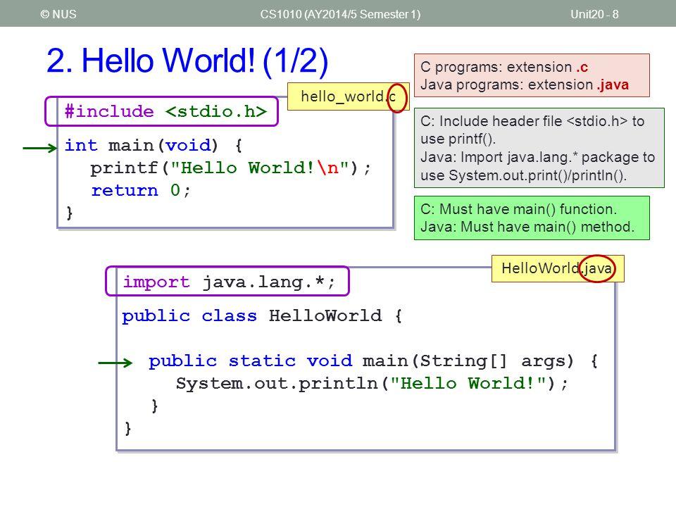 2.Hello World.