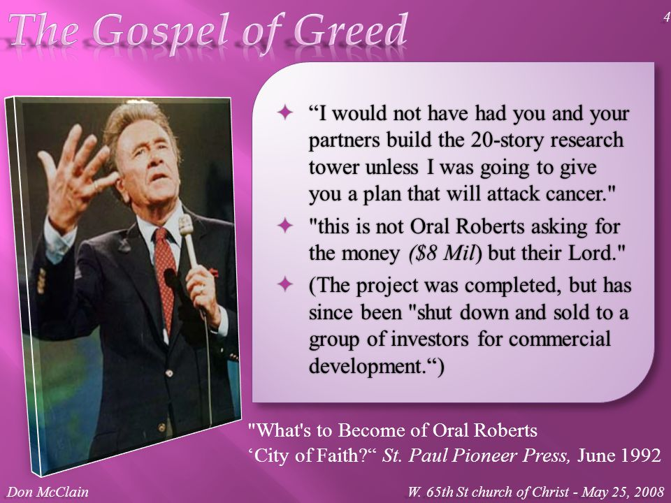 What s to Become of Oral Roberts 'City of Faith St.