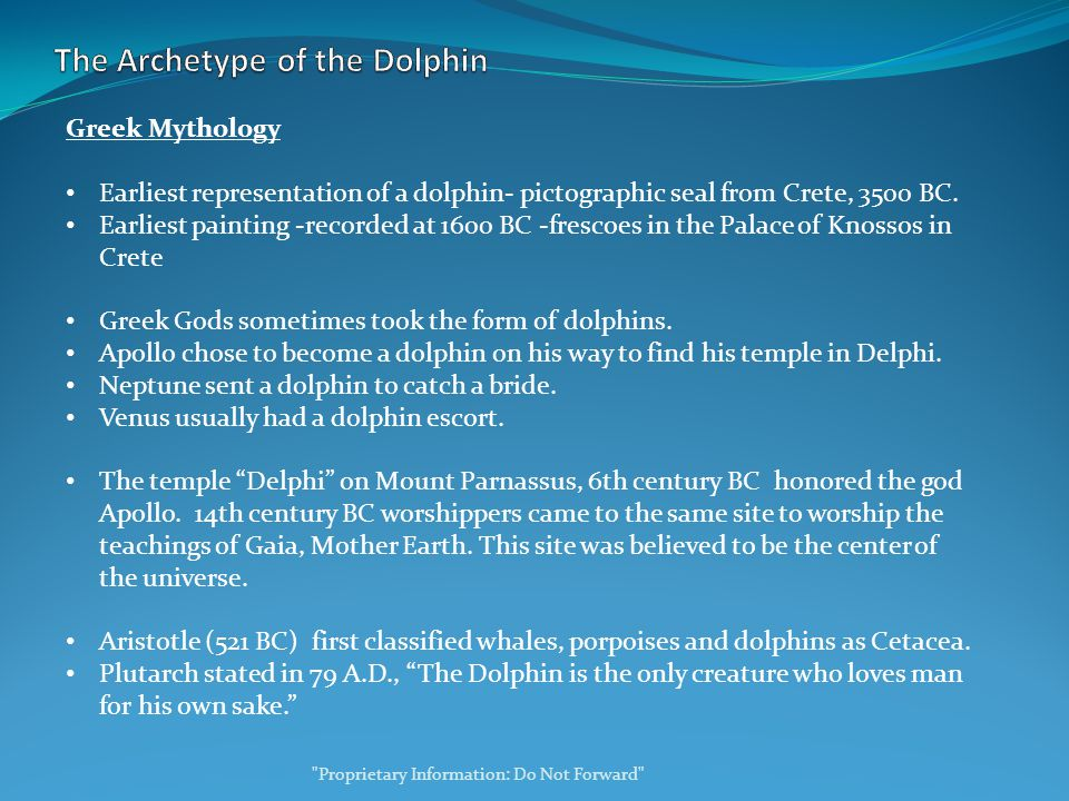 Greek Mythology Earliest representation of a dolphin- pictographic seal from Crete, 3500 BC.