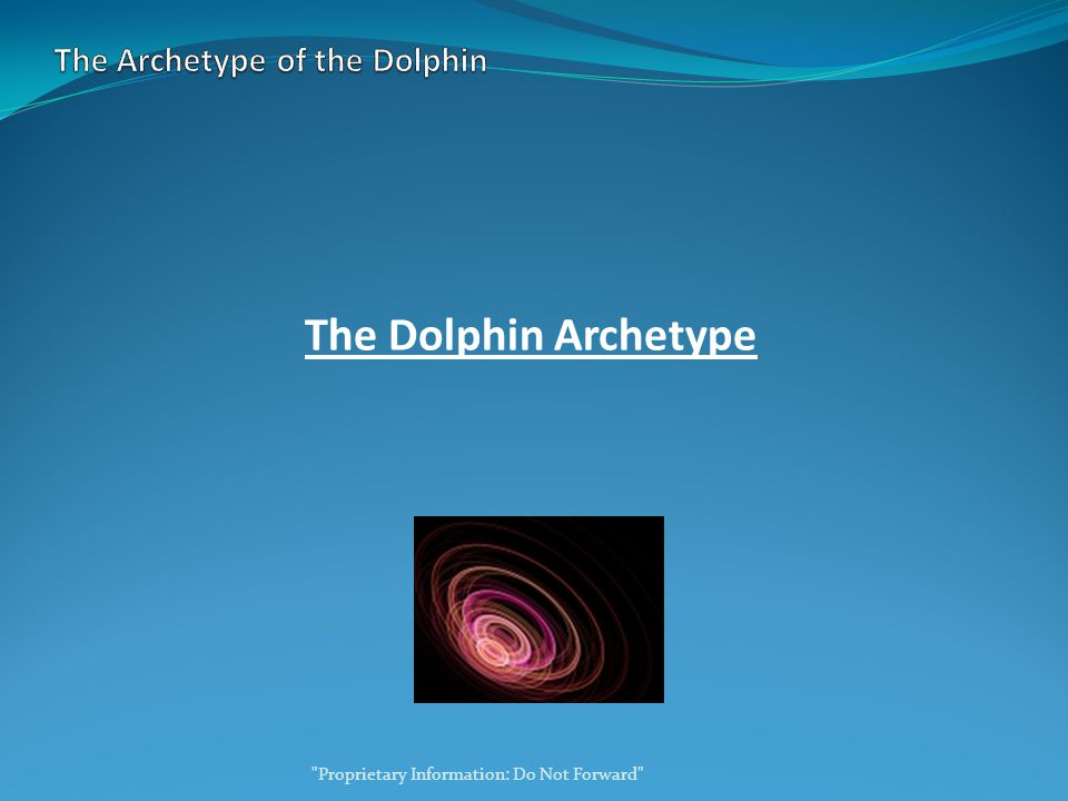 The Dolphin Archetype Proprietary Information: Do Not Forward