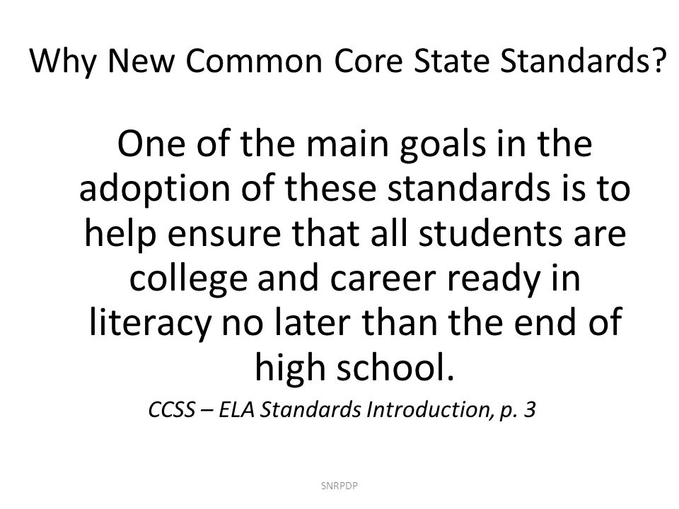 Why New Common Core State Standards.