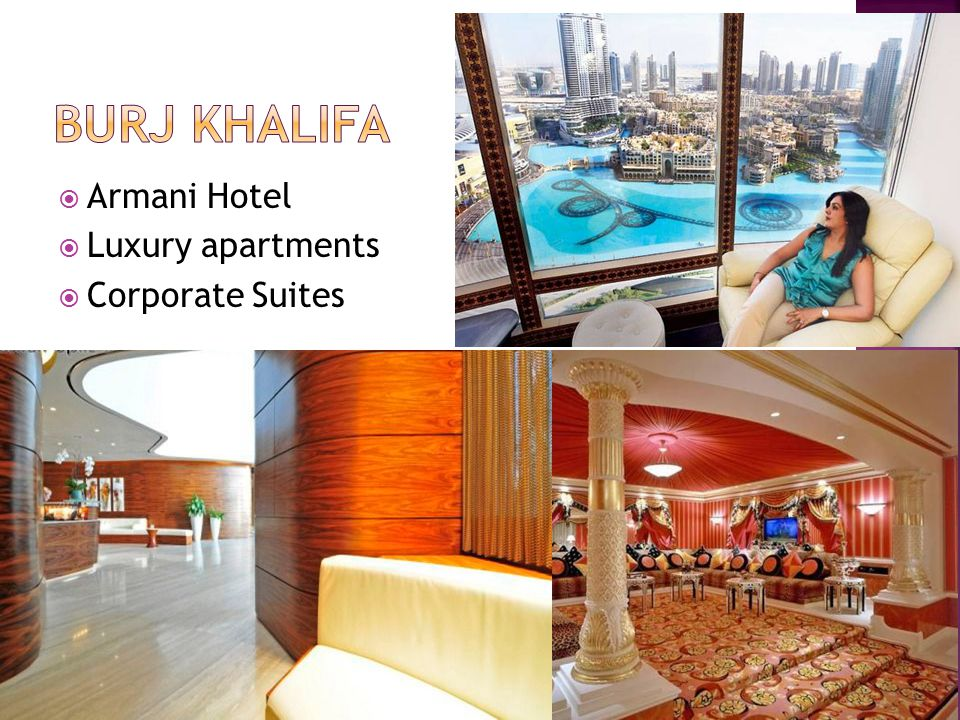  Armani Hotel  Luxury apartments  Corporate Suites
