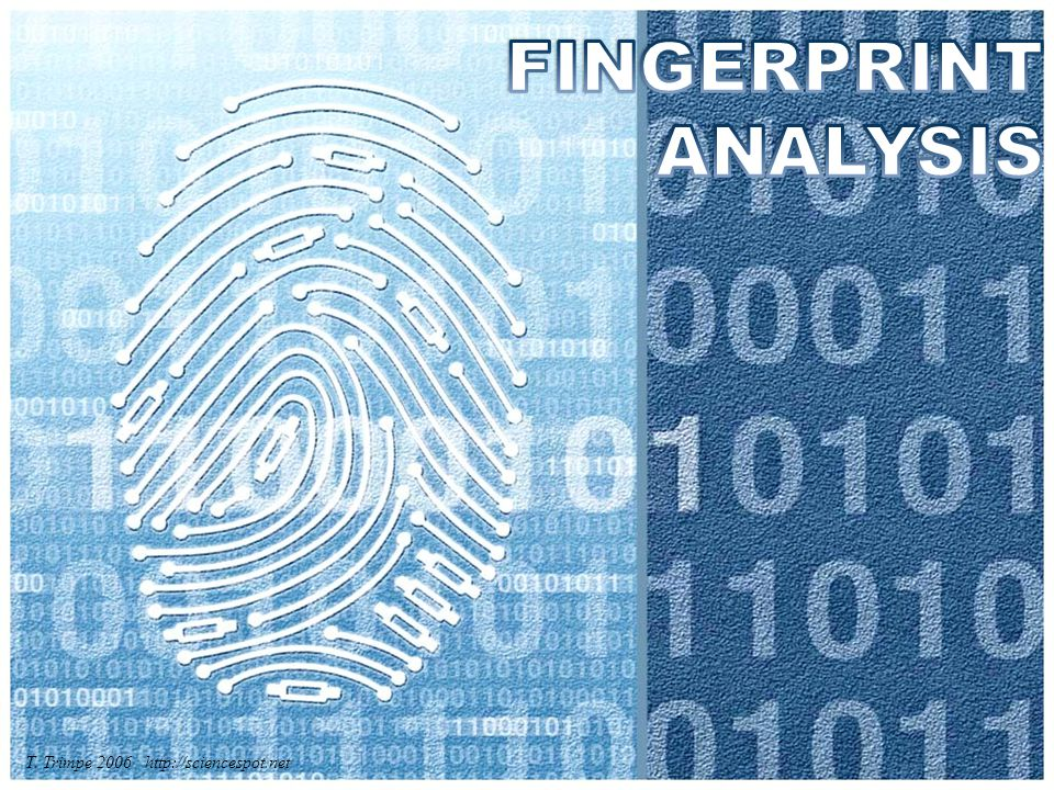 HW: Methods of Detecting Fingerprints Read pages 417-424 in the text and prepare 4-5 slides, including information such as: – What type of print does it detect.