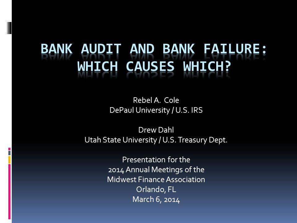 Rebel A. Cole DePaul University / U.S. IRS Drew Dahl Utah State University / U.S.