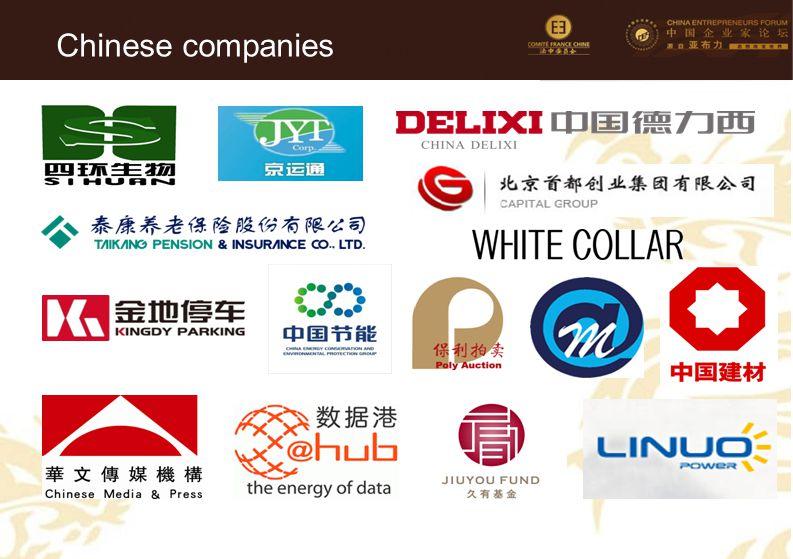 88 Chinese companies