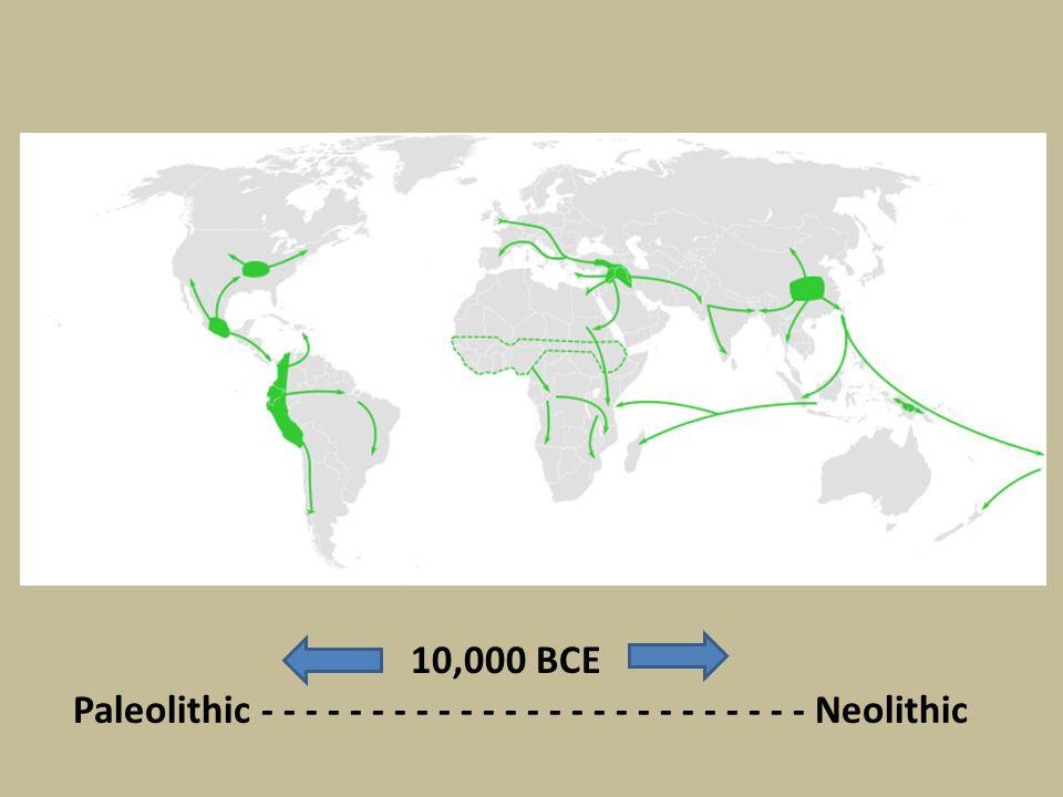 10,000 BCE Paleolithic - - - - - - - - - - - - - - - - - - - - - - - - - Neolithic