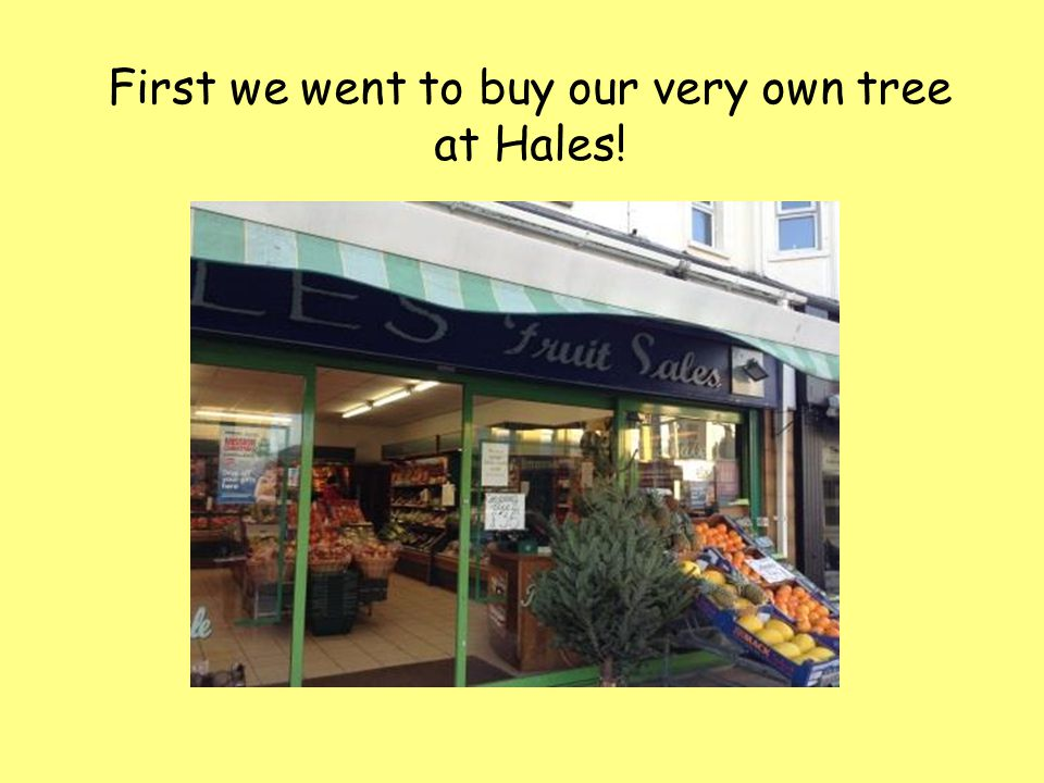 First we went to buy our very own tree at Hales!
