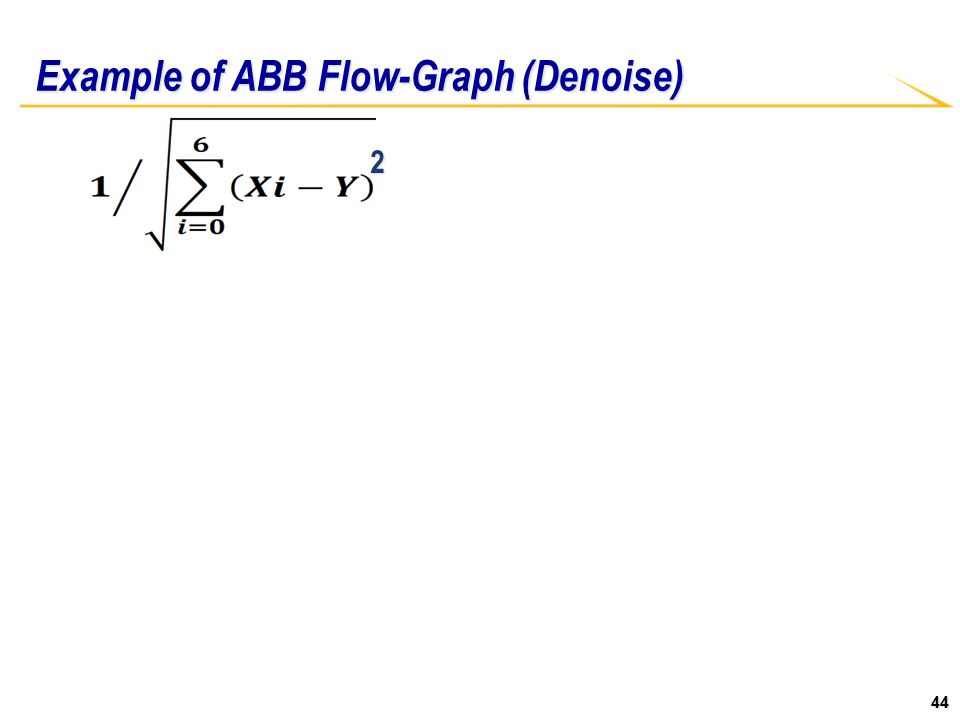 44 Example of ABB Flow-Graph (Denoise) 2
