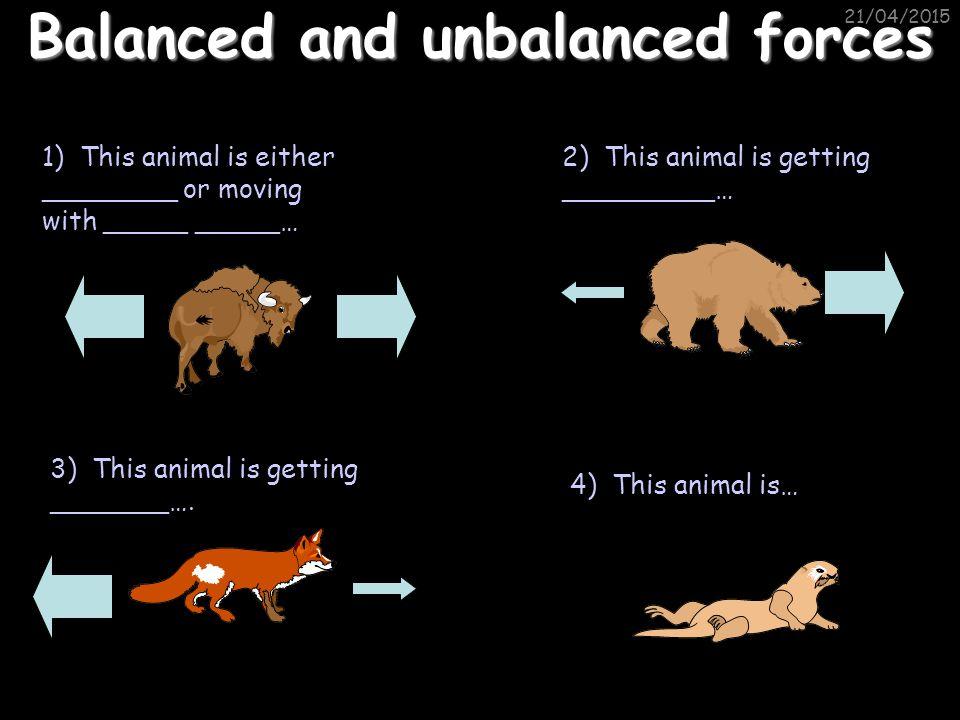 21/04/2015 Balanced and unbalanced forces