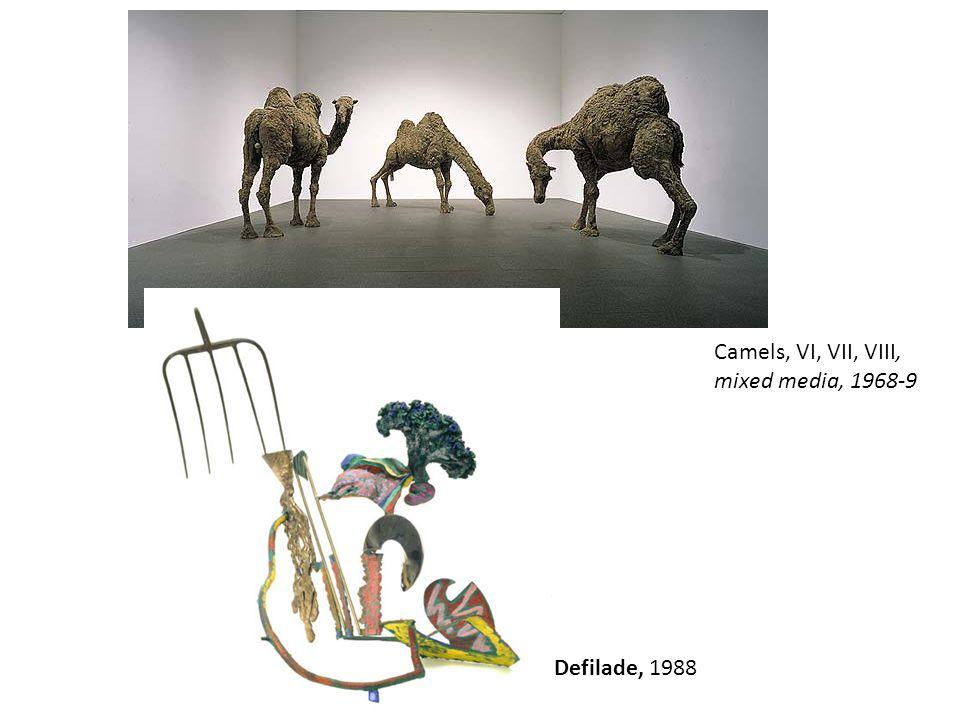 Camels, VI, VII, VIII, mixed media, 1968-9 Defilade, 1988