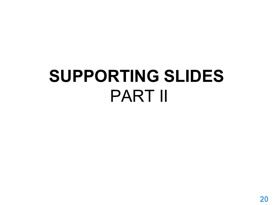 20 SUPPORTING SLIDES PART II