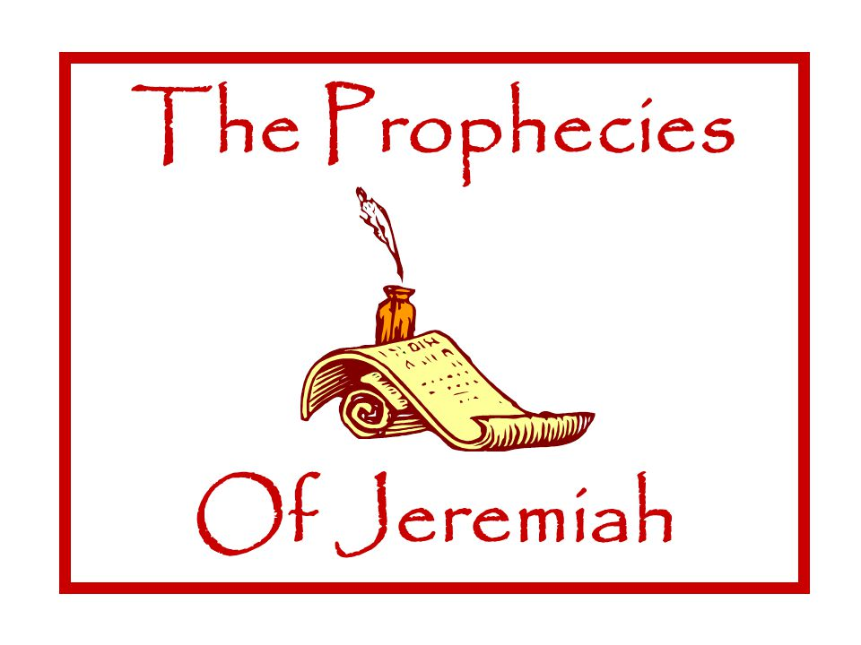 The Prophecies Of Jeremiah Reign Of Zedekiah The Prophecies Of Jeremiah à Hanniah opposes Jeremiah's message Jer 28 à He contradicts Jeremiah's words re: Babylon, Jehoiachin vv.