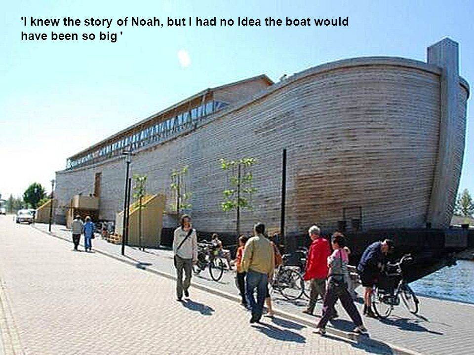 There is enough space near the keel for a 50-seat film theater where kids can watch a video that tells the story of Noah and his ark.