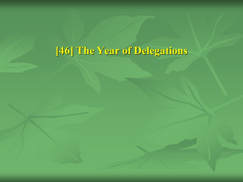 [46] The Year of Delegations