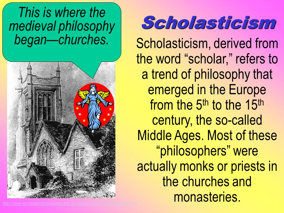 A Brief Introduction to Scholasticism Activity 2: A Brief Introduction to Scholasticism I think; therefore, I am. ~ Rene Descartes (1596-1650) Studying philosophy helps you to become a logical, creative, and open-minded thinker.