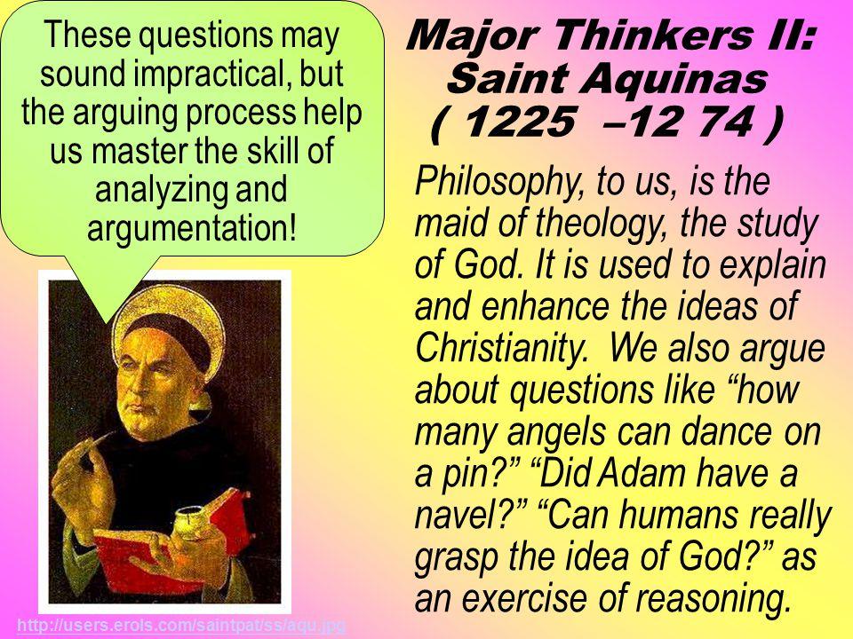 Major Thinkers I: Saint Augustine ( 354 – 430 ) St.