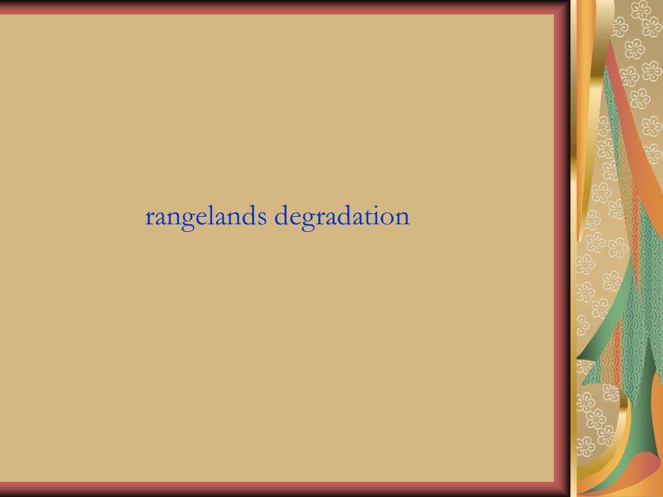 rangelands degradation