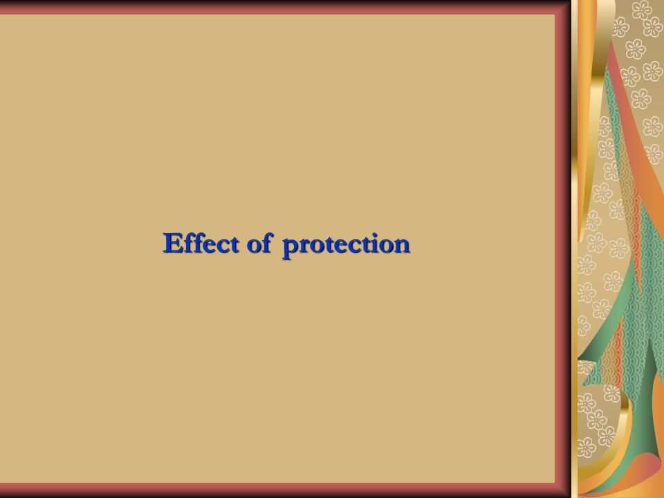 Effect of protection