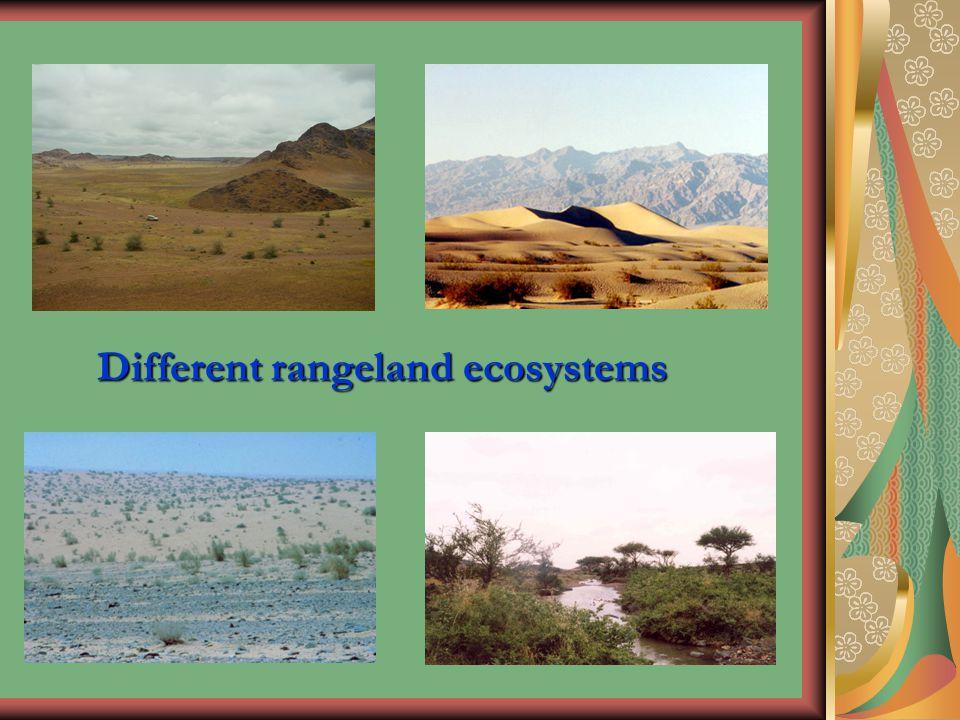 Different rangeland ecosystems
