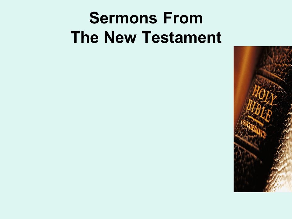 Sermons From The New Testament