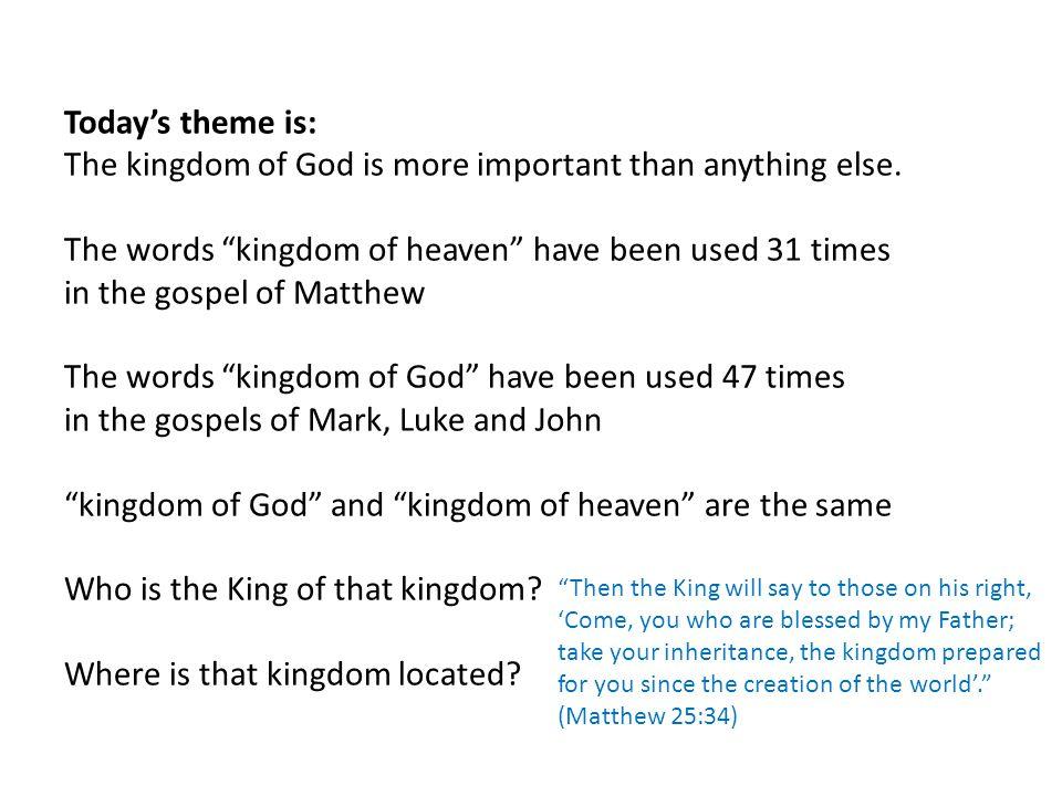 Read aloud together Matthew 13:44-46 (two short parables) 44 The kingdom of heaven is like treasure hidden in a field.