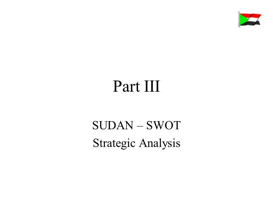 Part III SUDAN – SWOT Strategic Analysis