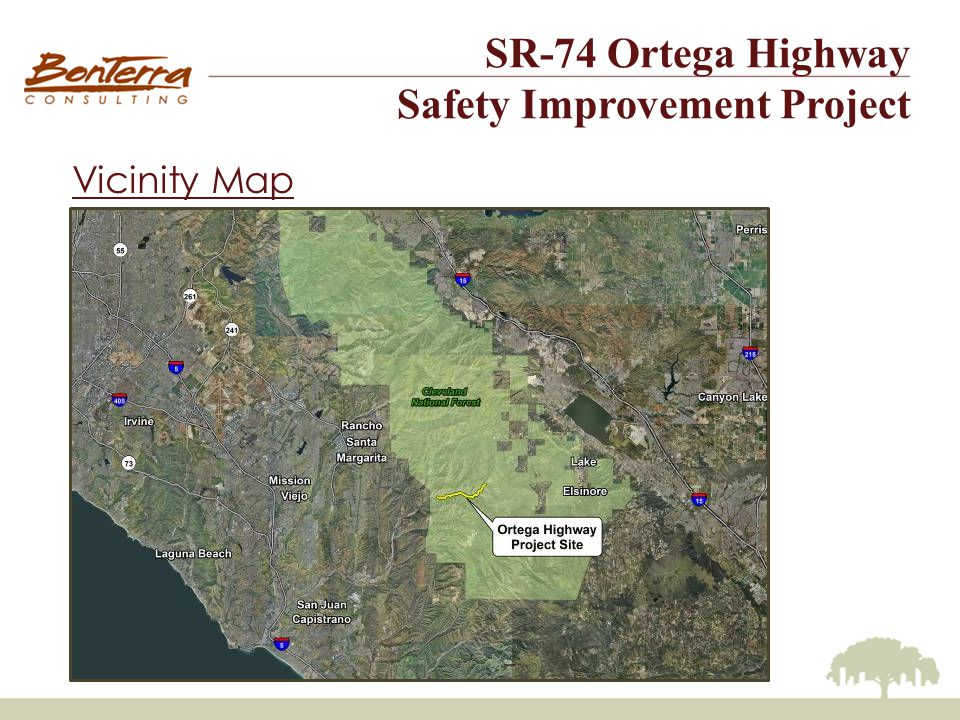 SR-74 Ortega Highway Safety Improvement Project Environmental Review IS/ND & EA/FONSI Constraints Aesthetics/Design Topography San Juan Creek Arroyo Toad