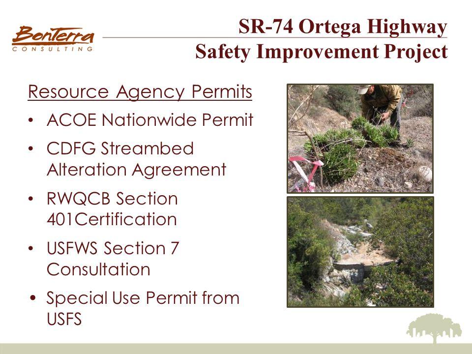 SR-74 Ortega Highway Safety Improvement Project 2005 Critical Habitat (After BIA Lawsuit)
