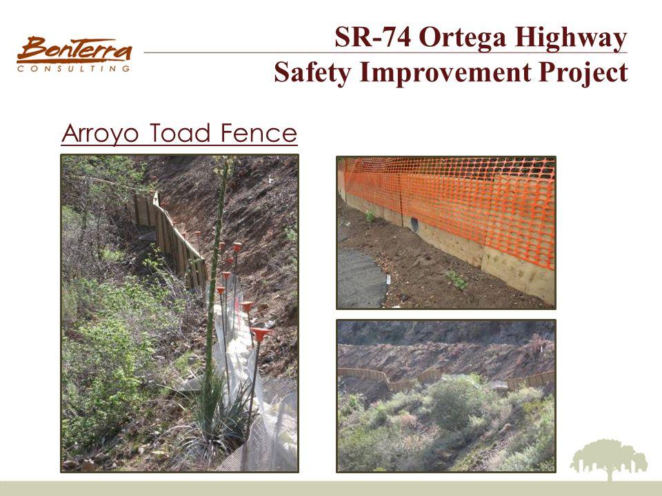 SR-74 Ortega Highway Safety Improvement Project Arroyo Toad Fence Design