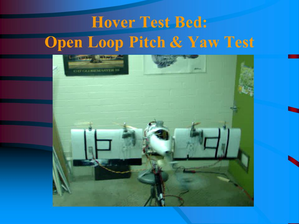 Hover Test Bed: Open Loop Pitch & Yaw Test