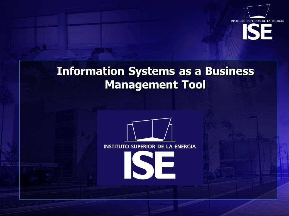 Information Systems as a Business Management Tool