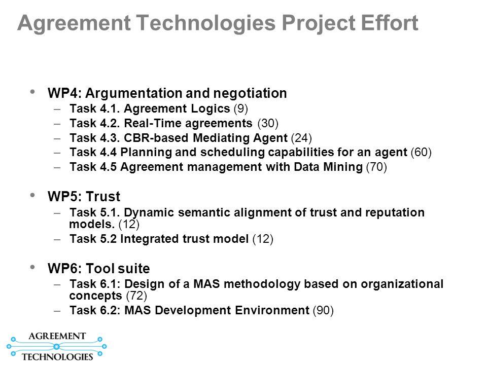 Agreement Technologies Project Effort WP4: Argumentation and negotiation –Task 4.1.