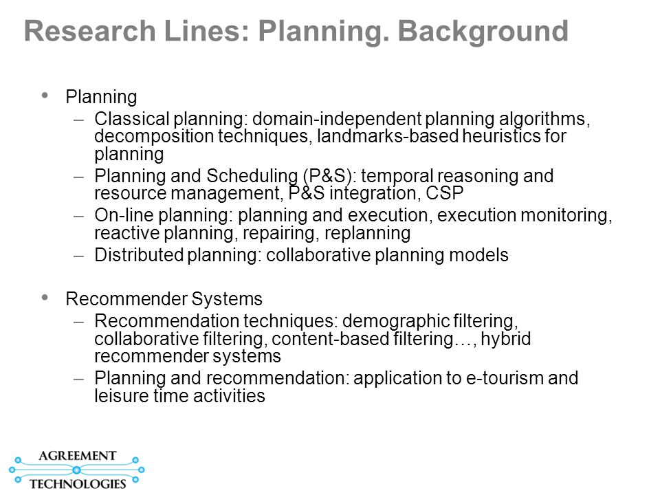 Research Lines: MAS.