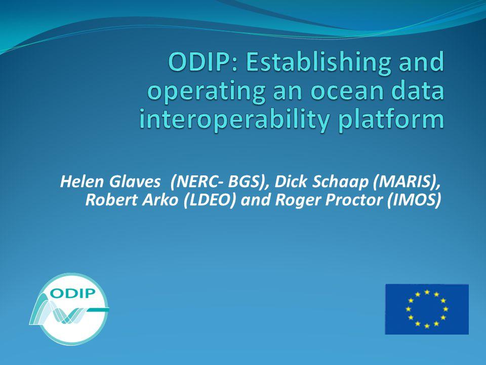 Helen Glaves (NERC- BGS), Dick Schaap (MARIS), Robert Arko (LDEO) and Roger Proctor (IMOS)
